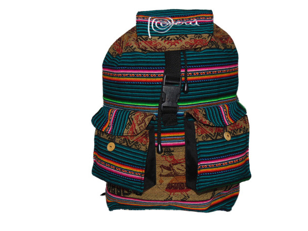 Adult Two Pocket Cotton Manta Back Pack Peru