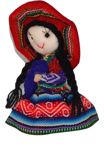 Traditional Dressed Doll from Peru 5""