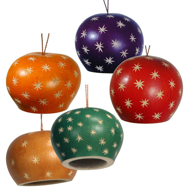 Gourd Star Bell Dome Ornament 3 Assortment Colors