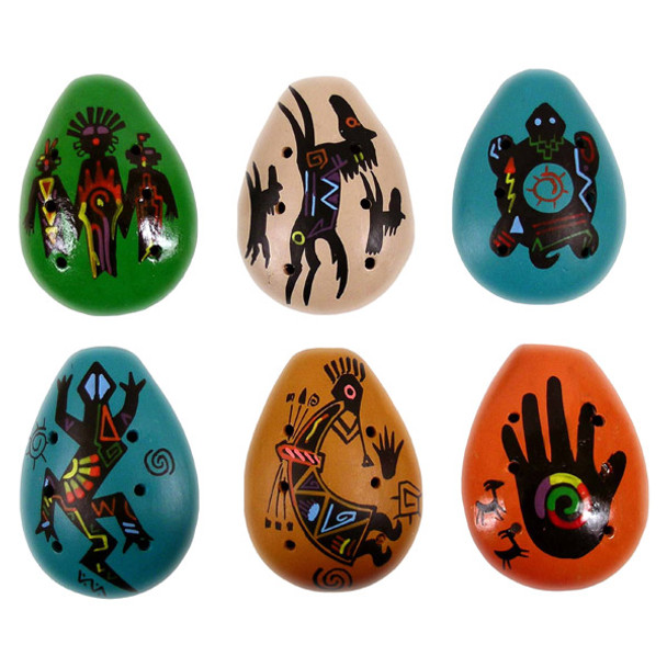 An assortment of six Native American designs Three Spirits Horses Turtle Lizard Kokopelli Hand