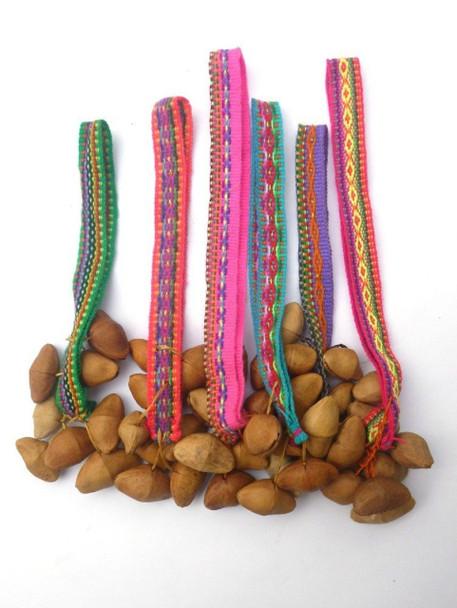 Strung Ankle or Wrist Rattler Instrument Ceremonial Dancing Peru