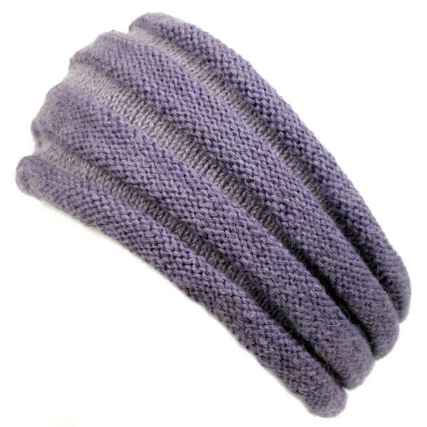 100% Alpaca Pleated Headband One Size Adult