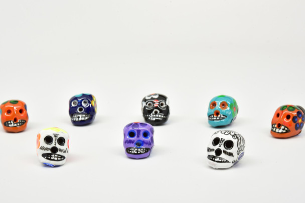 Sugar Skull Magnets Talavera Clay Assortment Hand Painted