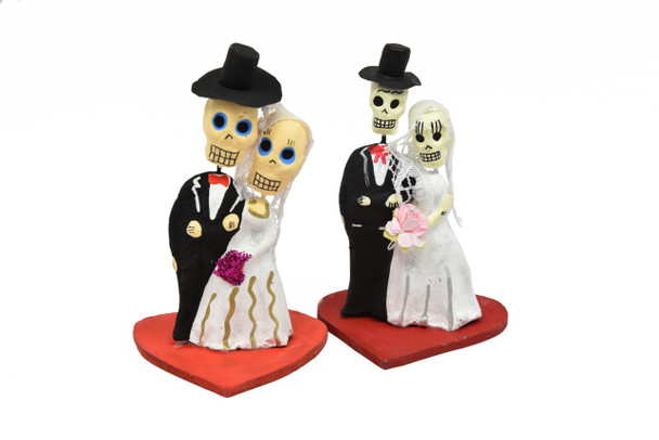 Wedding Bride and Groom Clay Wood Cake Topper Ornament Party Bachelor-Bachelorette