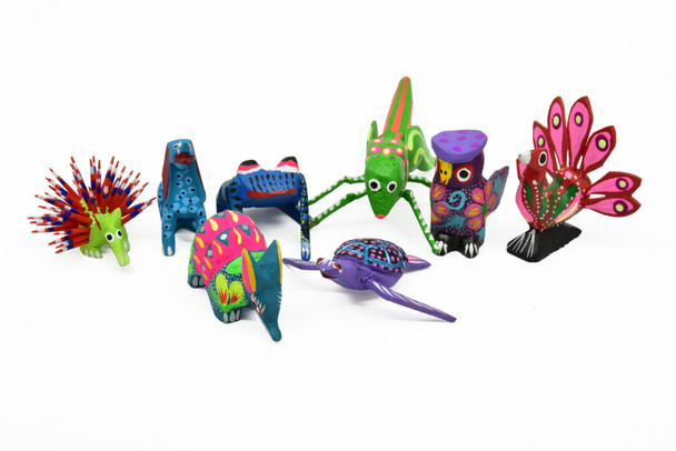 Assortment of Alebrije Creatures in Wood Unique Animals, Characters and Monsters