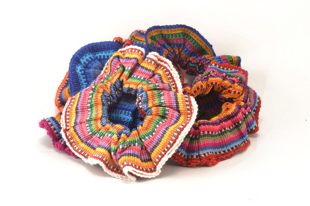 Bright and colorful ethnic hair ties - scrunchies hair Guatemalan Folk Traditional handmade