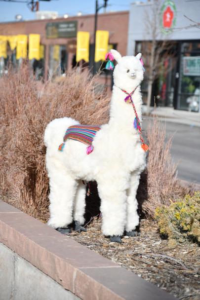 """Alpaca Plush Doll Model 40"""" Tall Beautiful Life Size Doll"""