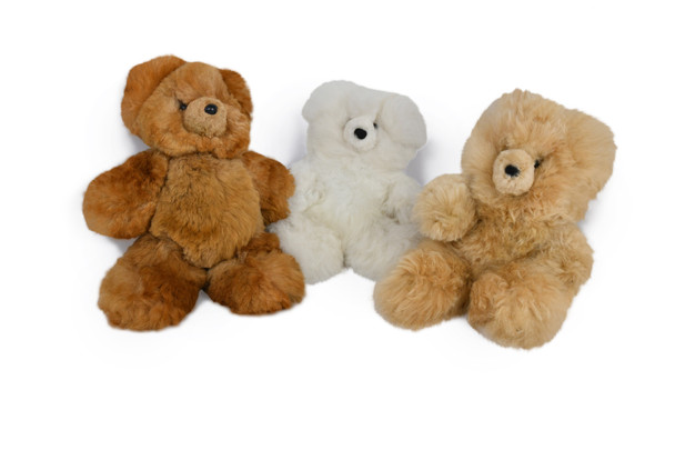 """Baby Alpaca Fur 10"""" Doll Model Plush Extremely Soft Natural Colors"""