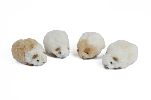 "Natural Baby Alpaca Fur Guinea Pig Cavies Pets 5"" Super Soft"