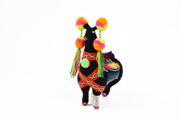 "Hand Made Llama Doll from Crafted  with Alpaca Yarn 6"" Tall"