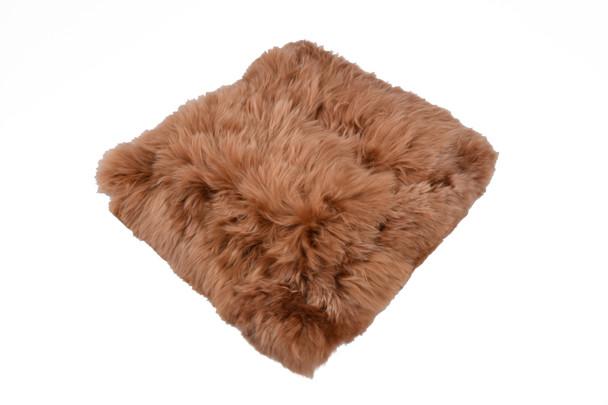 Solid Chocolate Color Alpaca Suri Pillow Case Natural Shades