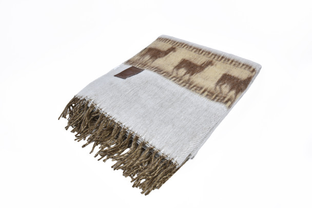 Alpaca Woven Reversible Blanket Two Tone Soft and Light