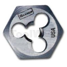 Han 6523  High Carbon Steel Hexagon 1in Across Flat Die 1/4in-28 NF
