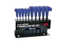 ATD Tools 575 T-Handle Hex Key Set, Metric, 10pc
