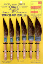 Mack Brush Squirrel Hair Sword Stripers, 1/4' MAC-20-0