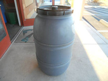 Barrel, 55 Gallon, Plastic, Full Lift Off Lid, HD - Local Pick Up Only