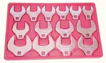 V8 Tools 7814 Crowfoot Wrench Set 1/2in. Drive 14 Piece Jumbo