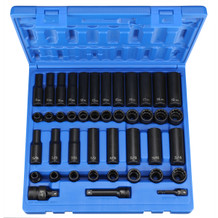 "3/8"" Dr. 43 Pc. Standard/Deep SAE/Metric -12 Point (GRE1643)"