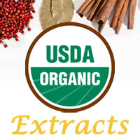 Certified organic flavor extracts for sale