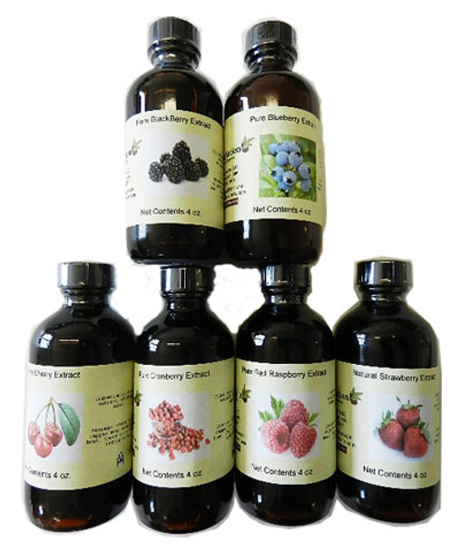 Set of 6 Berry Extracts