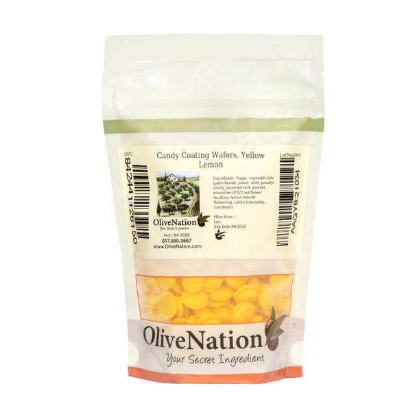 Candy Coating Wafers, Yellow Lemon