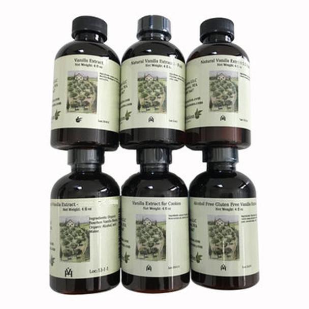 Set of 6 Vanilla Extracts