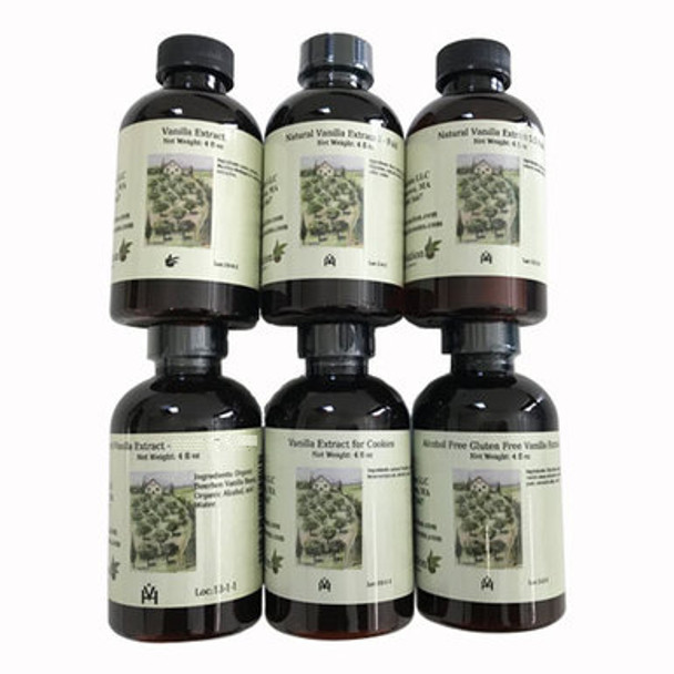 Set of 6 Vanilla Extracts