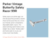 Parker's 99R Safety Razor - a Top Pick in MindBodyGreen's  Natural & Clean Men's Grooming Gear
