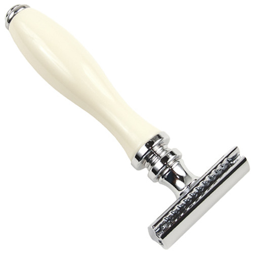 Parker 111W White Resin Handle Razor