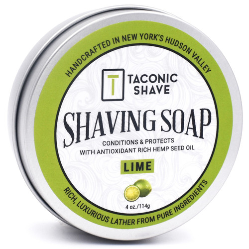 Taconic Lime Shaving Soap with Hemp Seed Oil