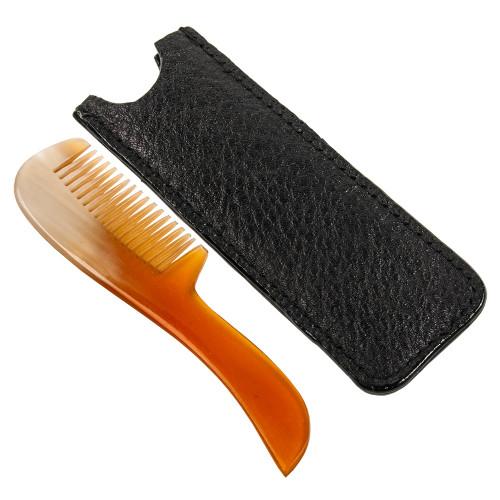Parker Genuine Ox Horn Mustache Comb