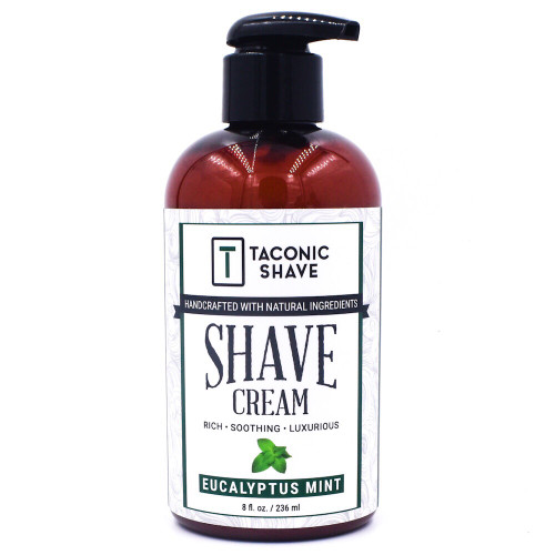Taconic Eucalyptus Mint Shave Cream in 8 oz. Pump Bottle