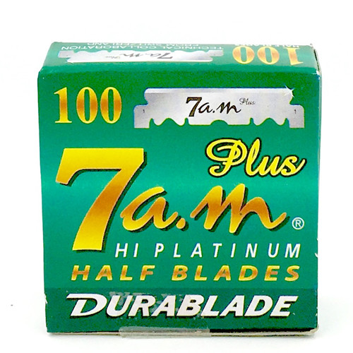 7AM HI-PLATINUM Half Blades - 100 Count for Straight Edge Barber Razors