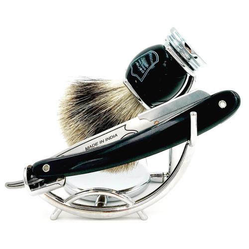 Parker SRB Straight Razor 3 Piece Shave Set & 100 Blades