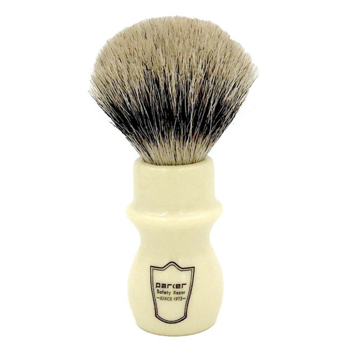 Parker Ivory Handle Deluxe Pure Badger Mug Shaving Brush