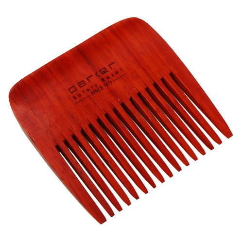Parker Solid Rosewood Beard Comb - Wide Tooth