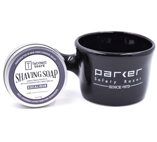 Taconic Excalibur Shaving Soap & Parker Apothecary Mug Gift Set