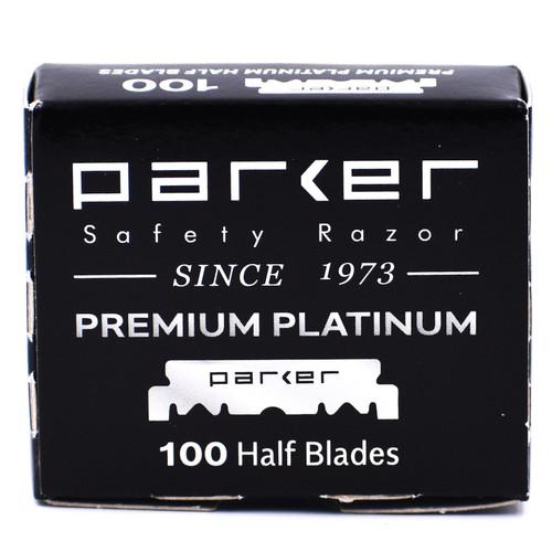Parker Premium Platinum Half Blades- 100 Count for Straight Edge Barber Razors