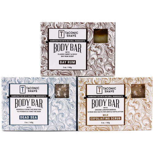 Taconic All Natural Body Cleansing Bar - Variety Pack (3)