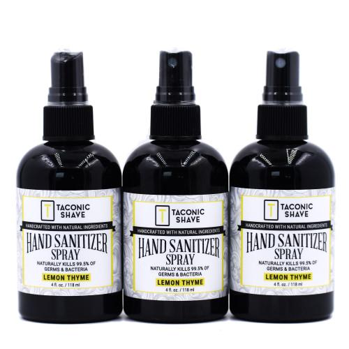 Taconic Natural Hand Sanitizer Spray (3 Pack) Lemon Thyme
