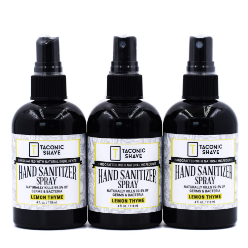 Taconic Natural Hand Sanitizer Spray (3 Pack) Lemon Thyme