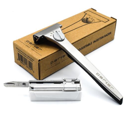 Parker Adjustable Injector Razor with 20 Blades