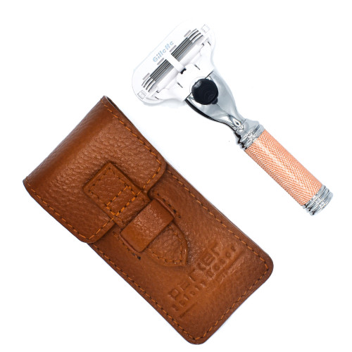 Parker Venus Compatible Travel Razor with Leather Case