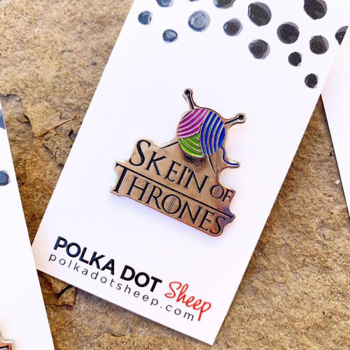 Enamel Skein of Thrones Pin