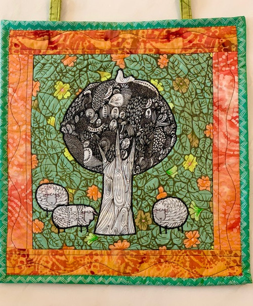 G9s Designs Hand Quilted Tree with Sheep