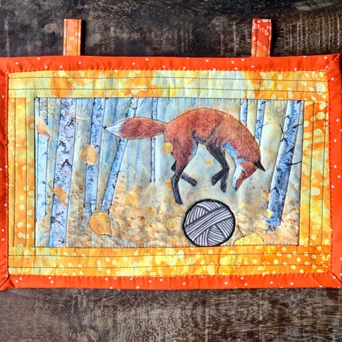 G9s Designs Hand Quilted Fox-Yarn Tapestry