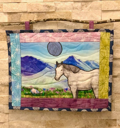 G9s Designs Hand Quilted Horse-Yarn Tapestry