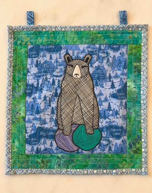 G9s Designs Hand Quilted Bear-Yarn Tapestry