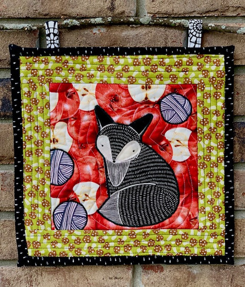 G9s Designs Hand Quilted Fox & Apple Tapestry