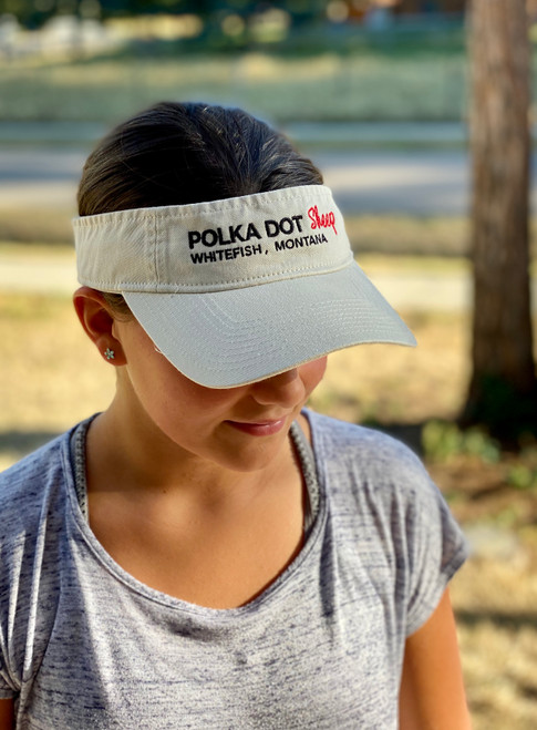 Polka Dot Sheep Visor